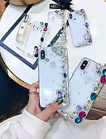 Недорогие -Кейс для Назначение Apple iPhone XS Max / iPhone 6 Стразы Кейс на заднюю панель Стразы Твердый Акрил для iPhone XS / iPhone XR / iPhone XS Max