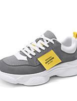 Недорогие -Муж. Комфортная обувь Полиуретан Весна лето Спортивные / На каждый день Кеды Нескользкий Контрастных цветов Черный / Серый