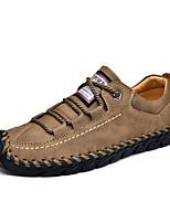 Недорогие -Муж. Комфортная обувь Микроволокно Весна лето На каждый день Кеды Амортизирующий Черный / Коричневый / Хаки