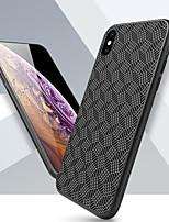 Недорогие -Nillkin Кейс для Назначение Apple iPhone XR / iPhone XS Max Защита от удара / Матовое / С узором Кейс на заднюю панель Геометрический рисунок Твердый Углеродное волокно для iPhone XS / iPhone XR