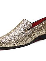 Недорогие -Муж. Официальная обувь Микроволокно Весна & осень Мокасины и Свитер Золотой / Черный / Серебряный / Для вечеринки / ужина