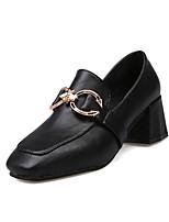 Недорогие -Жен. Полиуретан Весна На каждый день Обувь на каблуках На толстом каблуке Черный / Миндальный