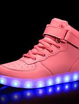 Недорогие -Мальчики / Девочки Обувь Полиуретан Весна & осень Обувь с подсветкой Кеды LED для Синий / Розовый