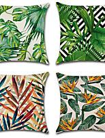 Недорогие -4.0 штук Хлопок / Лён Наволочки, Деревья / Листья Мода Цветочный принт Природа тропический