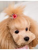 baratos -Cachorros Gatos Acessórios de Cabelo Roupas para Cães Natal Cor Aleatória Plástico Ocasiões Especiais Para Todas as Estações Feminino Estiloso Decoração de Cabelo