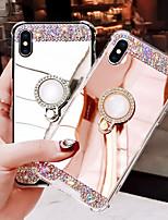 Недорогие -Кейс для Назначение Apple iPhone XS Max / iPhone 6 Стразы Кейс на заднюю панель Однотонный Твердый Акрил для iPhone XS / iPhone XR / iPhone XS Max