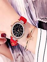 Недорогие -Жен. Нарядные часы Кварцевый Стеганная ПУ кожа Черный / Красный / Зеленый Защита от влаги Аналоговый На каждый день Мода - Лиловый Красный Зеленый