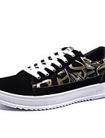 Недорогие -Муж. Комфортная обувь Полиуретан Весна На каждый день Кеды Нескользкий Черно-белый / Черный / Красный / Черный / синий