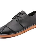 Недорогие -Муж. Комфортная обувь Полиуретан Весна На каждый день Кеды Нескользкий Белый / Черный / Бежевый