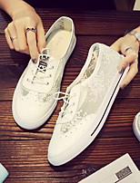 Недорогие -Жен. Кружева / Сетка Лето На каждый день Свадебная обувь На плоской подошве Круглый носок Белый / Свадьба