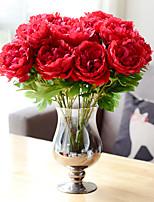 Недорогие -Искусственные Цветы 1 Филиал Классический Традиционный / классический европейский Пионы Вечные цветы Букеты на стол