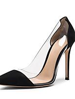 Недорогие -Жен. Микроволокно Лето Обувь на каблуках На шпильке Черный / Темно-синий / Розовый
