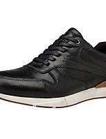 Недорогие -Муж. Комфортная обувь Наппа Leather Весна лето Классика / На каждый день Кеды Черный / Коричневый / Вино
