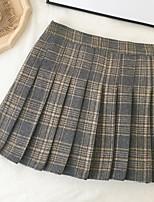 Недорогие -женские юбки выше колена - полосатые