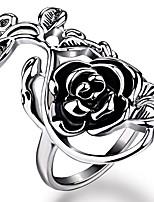 Недорогие -Жен. Кольцо Модные кольца Бижутерия Серебряный Назначение Свадьба