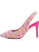 Недорогие -Жен. Кожа Весна Обувь на каблуках На шпильке Бежевый / Розовый