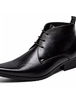 Недорогие -Муж. Комфортная обувь Полиуретан Весна Туфли на шнуровке Черный / Коричневый