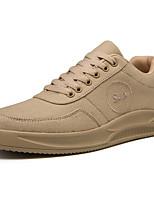 Недорогие -Муж. Комфортная обувь Полотно Наступила зима На каждый день Кеды Черный / Бежевый / Серый