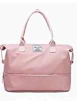 Недорогие -Нейлон / синтетика Сплошной цвет Дорожная сумка Молнии Сплошной цвет Черный / Розовый