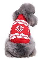 Недорогие -Собаки Свитера Одежда для собак Геометрический принт Английский Красный Синий Чинлон Костюм Назначение Корги Гончая Бульдог Осень Зима Универсальные Простой стиль Хэллоуин