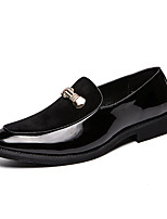 Недорогие -Муж. Кожаные ботинки Кожа Весна лето Деловые / На каждый день Мокасины и Свитер Доказательство износа Черный