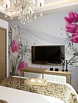 Недорогие -обои / фреска холст Облицовка стен - Клей требуется Цветочный принт / Геометрический принт / Ар деко