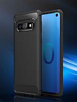 Недорогие -Кейс для Назначение SSamsung Galaxy Galaxy S10 / Galaxy S10 Plus Защита от удара Чехол Однотонный Мягкий ТПУ для S9 / S9 Plus / S8 Plus