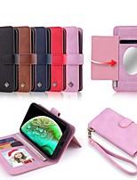 Недорогие -Nillkin Кейс для Назначение Apple iPhone XR / iPhone XS Max Кошелек / Бумажник для карт / Защита от удара Чехол Однотонный Твердый Кожа PU для iPhone XS / iPhone XR / iPhone XS Max