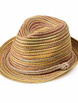Недорогие -Жен. Симпатичные Стиль Соломенная шляпа / Шляпа от солнца Полоски
