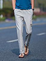 Недорогие -Муж. Гарем Сплетенные брюки Зеленый Синий Со стразами Виды спорта Сплошной цвет Брюки Нижняя часть Спорт в свободное время Бег Фитнес Большие размеры Спортивная одежда / Слабоэластичная