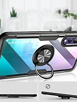 Недорогие -Кейс для Назначение Huawei P20 / P20 Pro Кольца-держатели / Прозрачный Кейс на заднюю панель Однотонный Твердый Силикон для Huawei P20 / Huawei P20 Pro / Huawei P20 lite
