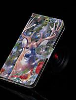 Недорогие -Кейс для Назначение Huawei Huawei Mate 20 Lite / Enjoy 7S Кошелек / Бумажник для карт / со стендом Чехол Животное Твердый Кожа PU для Huawei Nova 3i / Huawei Honor 9 Lite / Huawei Honor 8X