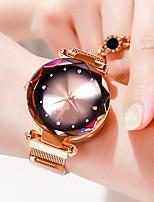 Недорогие -Жен. Наручные часы Кварцевый Нержавеющая сталь Розовое золото Защита от влаги Новый дизайн Аналоговый Мода Цветной - Красный Зеленый Синий