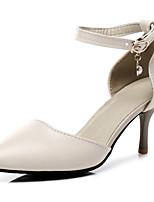 Недорогие -Жен. Искусственная кожа Весна лето Обувь на каблуках На шпильке Заостренный носок Черный / Миндальный