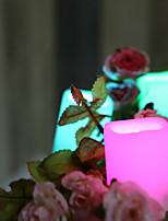 Недорогие -24pcs LED Night Light / Свечной свет RGB + теплый Батарея с батарейкой