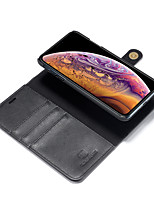Недорогие -Nillkin Кейс для Назначение Apple iPhone XR / iPhone XS Max Бумажник для карт / со стендом Чехол Однотонный Твердый Кожа PU для iPhone XS / iPhone XR / iPhone XS Max