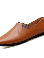 Недорогие -Муж. Комфортная обувь Кожа / Полиуретан Весна На каждый день Мокасины и Свитер Нескользкий Черный / Коричневый / Синий