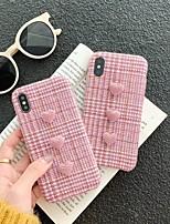 Недорогие -Кейс для Назначение Apple iPhone XS Max / iPhone 6 Резервная копия Кейс на заднюю панель Однотонный Твердый текстильный для iPhone XS / iPhone XR / iPhone XS Max