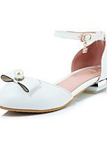 Недорогие -Жен. Искусственная кожа Весна лето Обувь на каблуках На низком каблуке Круглый носок Белый / Синий / Розовый