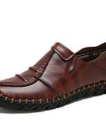 Недорогие -Муж. Обувь для вождения Кожа Осень Мокасины и Свитер Черный / Желтый / Коричневый