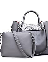 cheap -Women's Zipper PU Bag Set Color Block 2 Pieces Purse Set Brown / Red / Gray / Snakeskin