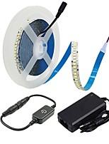 Недорогие -ZDM® 5 метров Наборы ламп 1200 светодиоды 2835 SMD 1 кабель переменного тока / 1 x диммерный переключатель / 1 блок питания X 12V 3A Тёплый белый / Холодный белый
