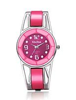 Недорогие -Жен. Наручные часы Кварцевый Нержавеющая сталь Розовый Повседневные часы обожаемый Аналого-цифровые Кольцеобразный - Черный Синий Розовый