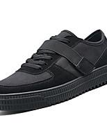Недорогие -Муж. Комфортная обувь Полиуретан Весна Кеды Черный / Бежевый