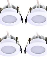 Недорогие -JIAWEN 4шт 3 W 240 lm 6 Светодиодные бусины Простая установка Встроенные LED даунлайт Тёплый белый Холодный белый 220 V