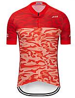Недорогие -Муж. С короткими рукавами Велокофты - Красный Велоспорт Джерси Верхняя часть Быстровысыхающий Виды спорта Терилен Горные велосипеды Шоссейные велосипеды Одежда / Слабоэластичная