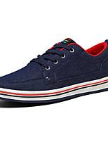 Недорогие -Муж. Комфортная обувь Полотно Весна На каждый день Кеды Нескользкий Темно-синий / Темно-серый / Красный