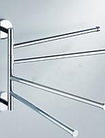 Недорогие -Держатель для полотенец Новый дизайн / Cool Modern Нержавеющая сталь 1шт 4-полосная доска На стену