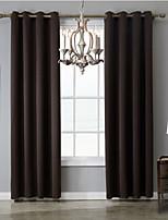 Недорогие -Однотонные Солнцезащитные 1 панель Занавес Спальня   Curtains