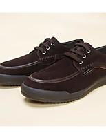 Недорогие -Муж. Комфортная обувь Замша Лето Кеды Темно-синий / Темно-коричневый